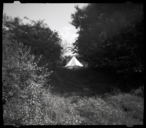 View back to sound tent in site 2
